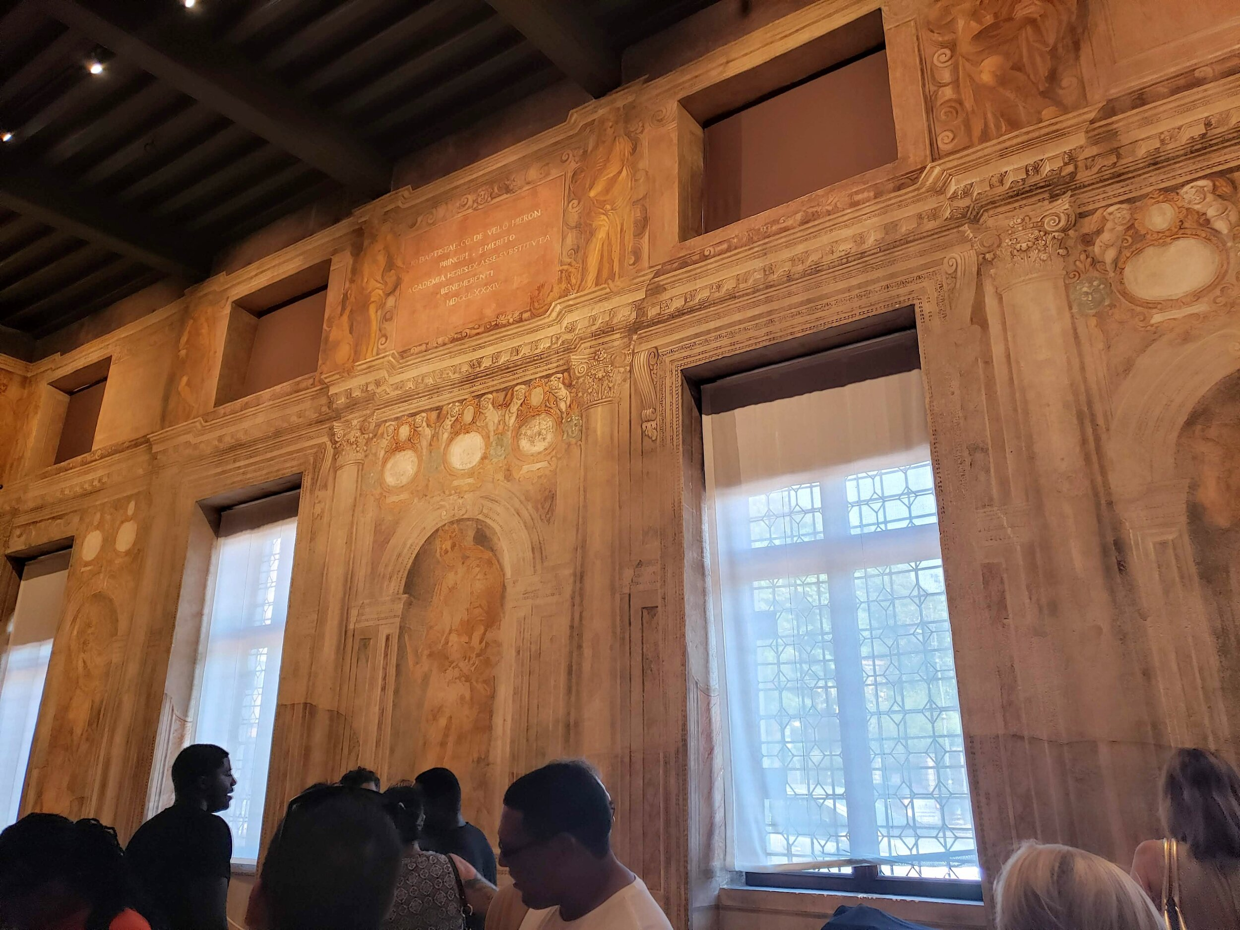 The lobby area sets the tone of the whole space with these incredible  trompe l'oeil  (fooling the eye) paintings that definitely look like three-dimensional architectural elements.