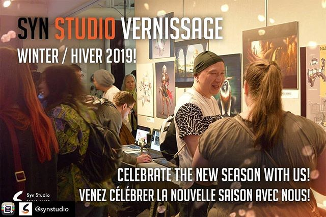 Our Winter Vernissage Party is coming up this Friday! Join us for cocktails, dumplings, sushi and music by DJ Rhythm and Hues + Special guests DJ Aji and DJ Byrd! 6pm - 10pm @ Syn Studio! See you there 😁 #synstudio#artevent #vernissage #montreal #artschool #artwork