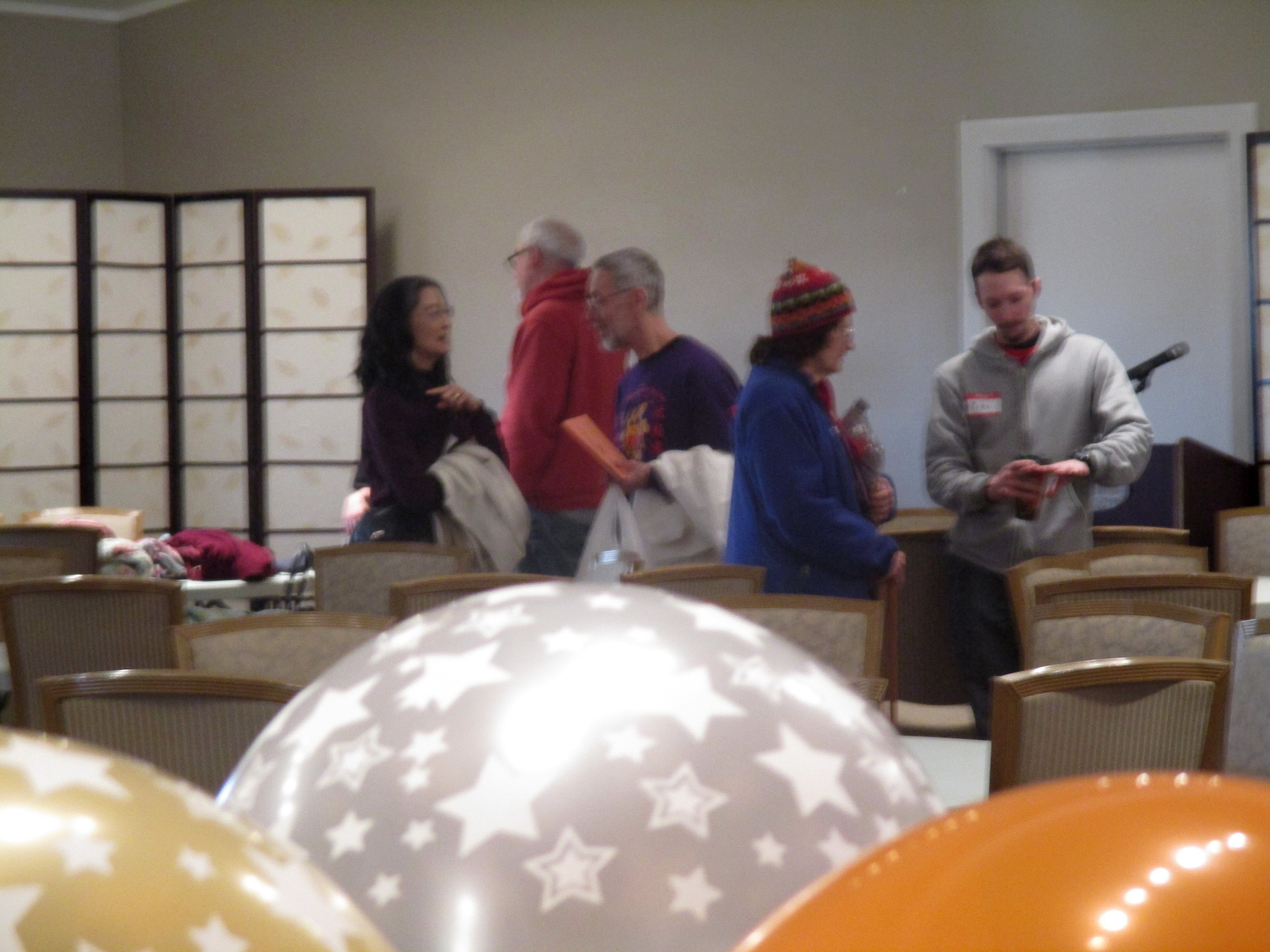 Party Balloons and departing guests