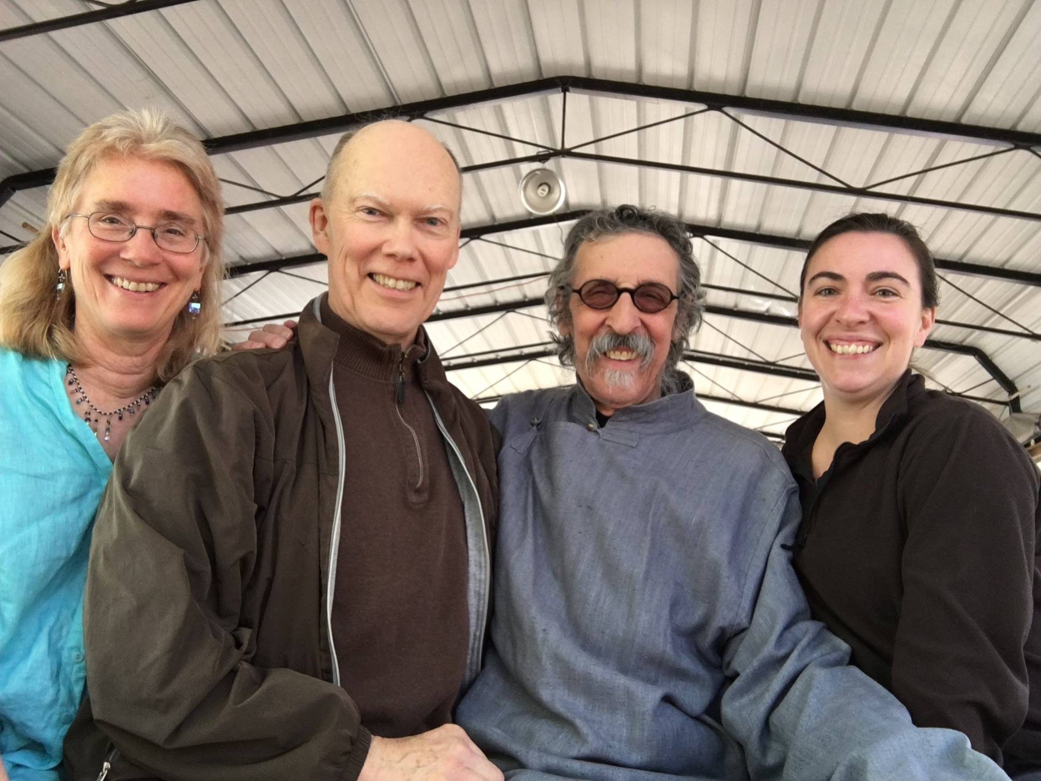 Kathleen Cusak, Dr. jay Dunbar, LaoMa and Violet Anderson at the beginning of Black Bamboo Pavilion Taijiquan School