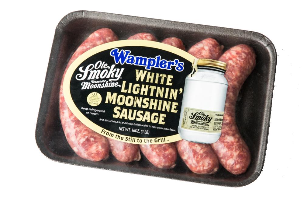 White Lightnin' Moonshine Sausage
