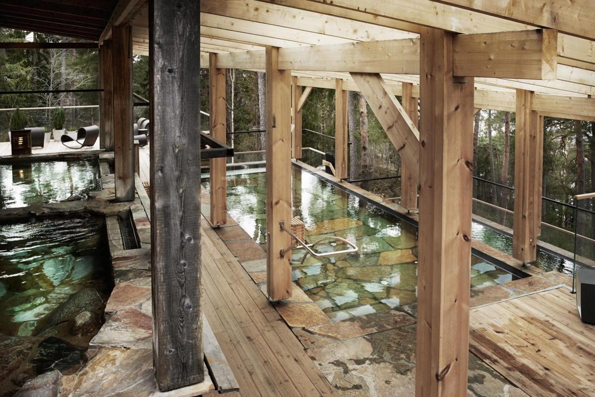 Outdoor pools  Via Yasuragi