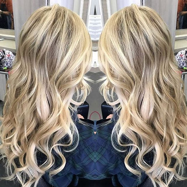 Hair by Nicole @mividanicole // #Repost @mividanicole with @repostapp ・・・ ✨✨✨ Base color, highlights and a full head of hair extensions on this beauty! #salon5150 #mividanicole #cinderellahairextensions #cinderellahair #extensions #veilextensions #highlights #blondehair #gorgeous #modernsalon #americansalon #behindthechair #btcpics #hairbrained #aveda @salon5150 @modernsalon @american_salon @behindthechair_com @hairbrained_official @aveda