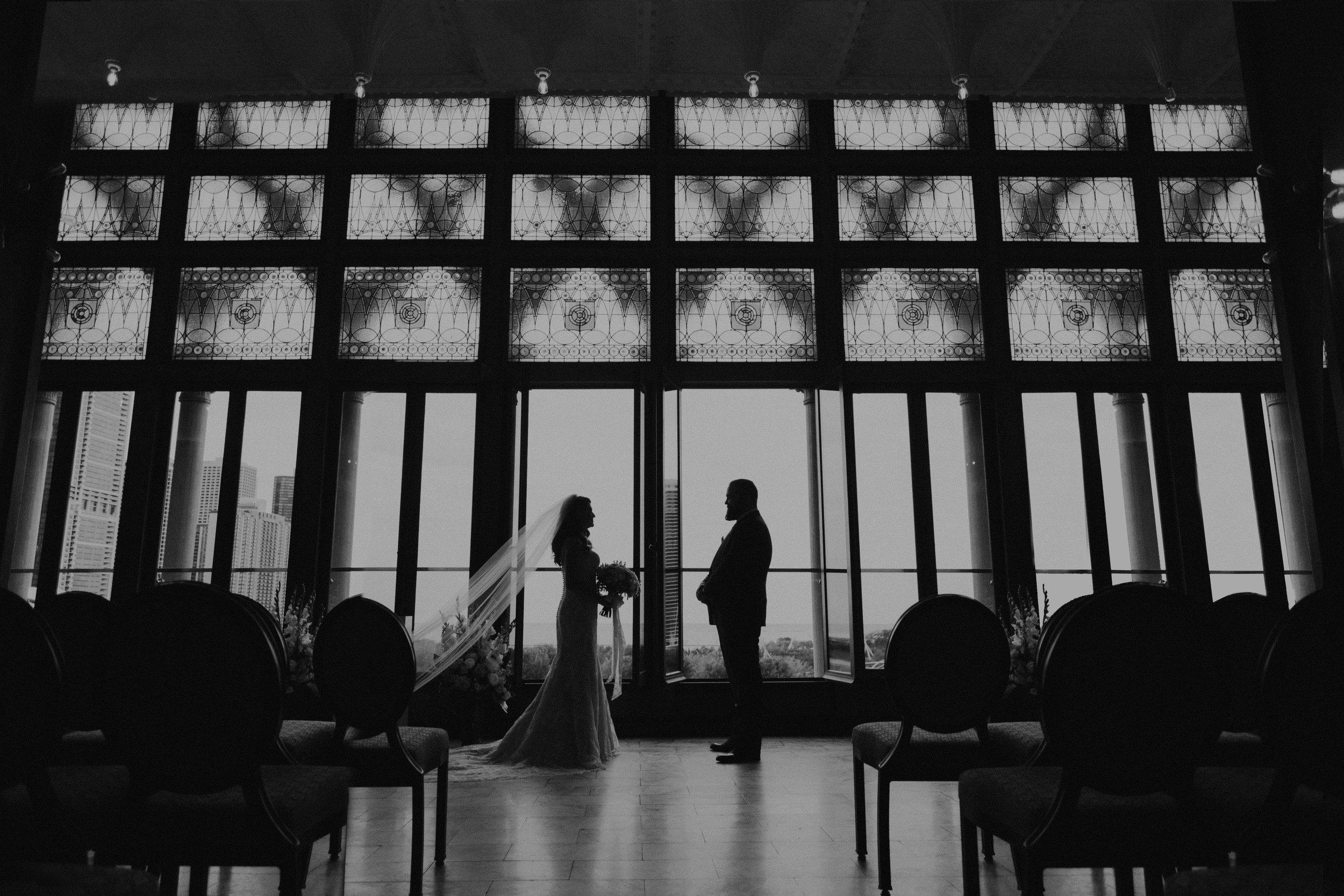 Classic Chicago Wedding - Venue: Chicago Athletic Association HotelHair/Makeup: Rare Bird BeautiesDress: The Kirstie by Maggie SotteroFlowers: A Pretty Flower