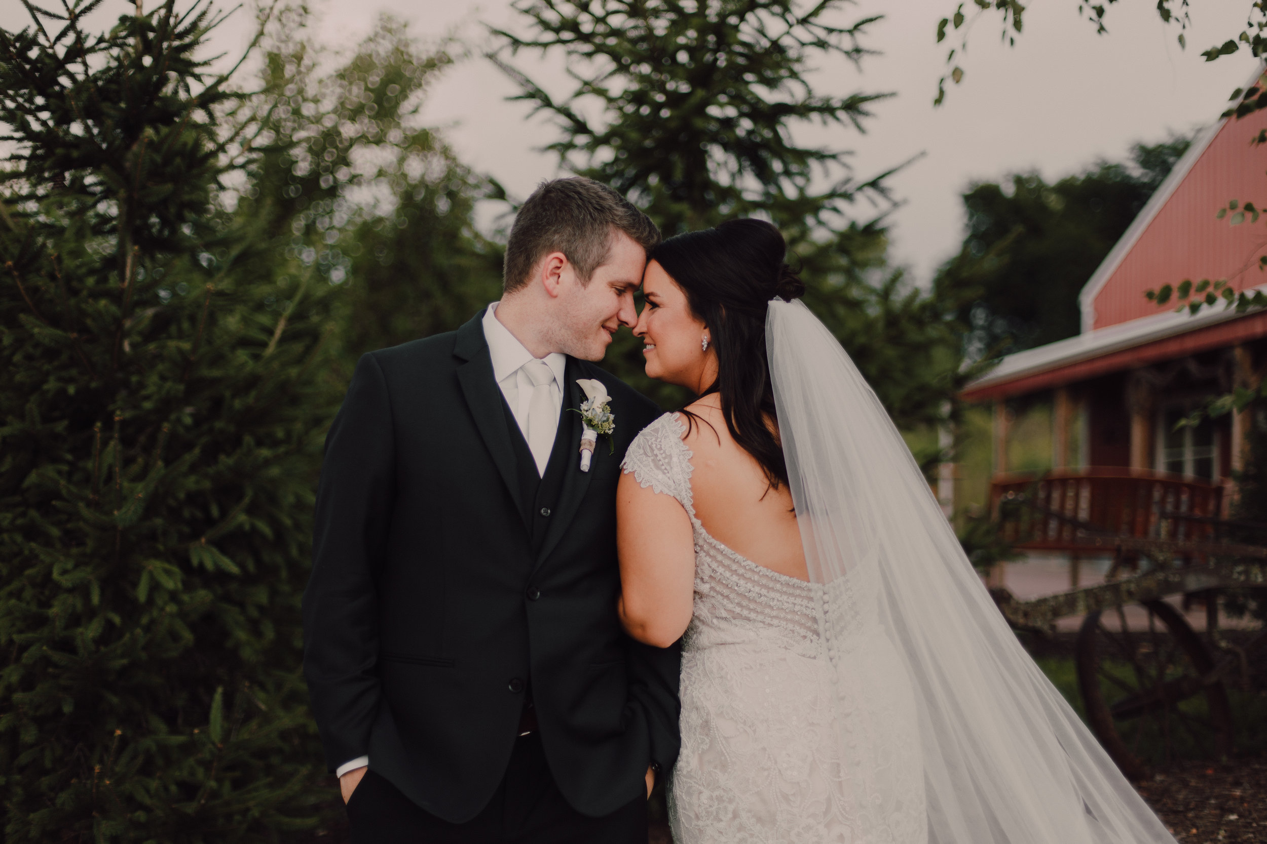 Chic Barn Wedding - Venue: Abbey FarmsHair: Coleen at Variations in Hair DesignMakeup: LG Makeup & TansFlowers: Soukals FloralDress: Allure Bridal at Reddington BridalVideographer: Elegante Media Chicago, VideoDecor: Garland & LaceDJ: Greg at DJ's for Fou