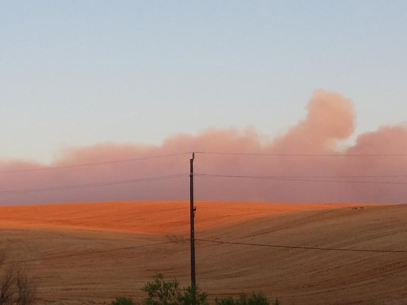 Blue Creek Fire, Lewis Peak Road