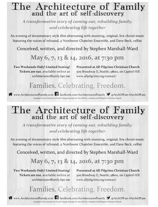 The Architecture of Family & the Art of Self-Discovery B&W Flier (half sheet)