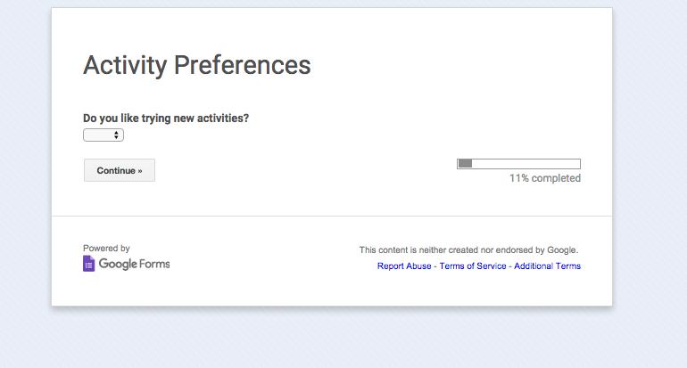 Activity Preferences survey screenshot.png