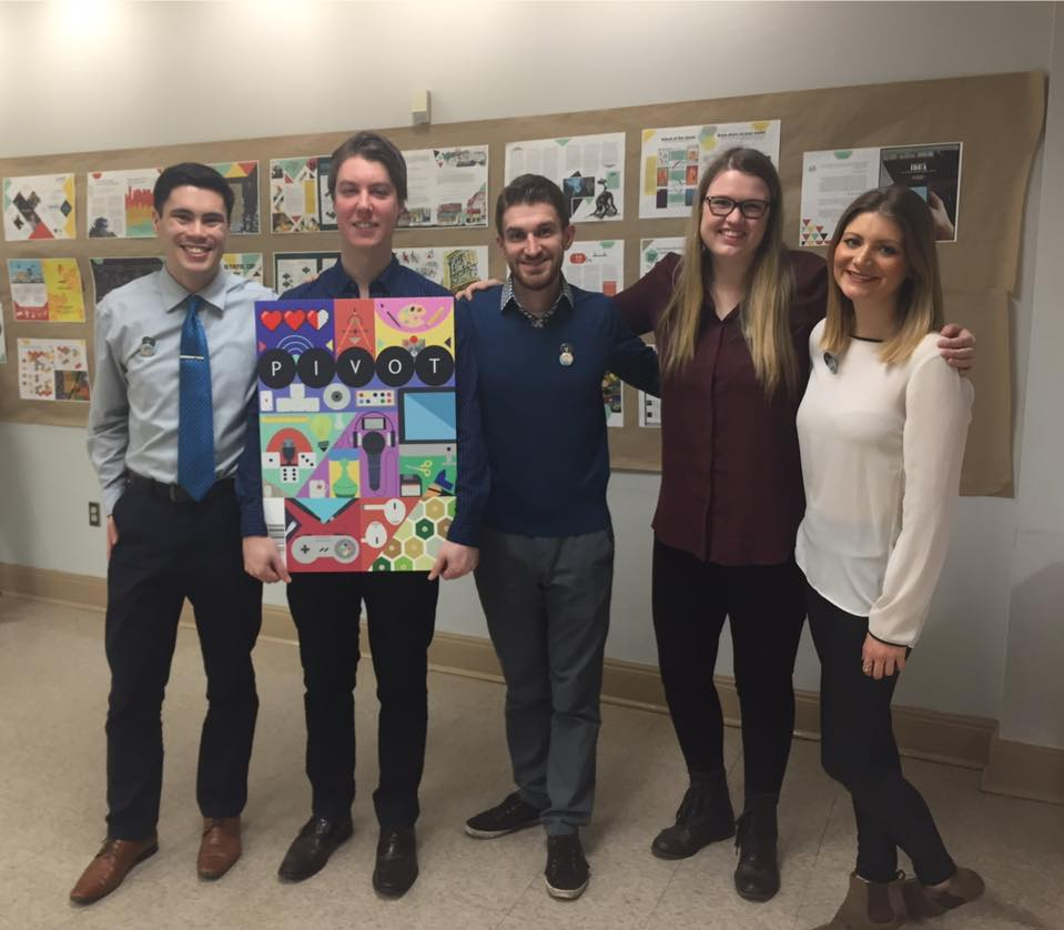 Thank you very much to the staff of Pivot Magazine. (L to R) Alexander Quon, Guillaume Lapointe-Gagner, Jeff Toth, Haley Maclean, Nicole Gnazdowsky.