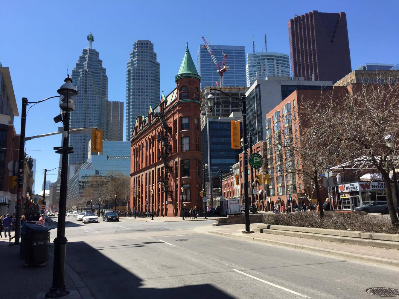 The Gooderham Building in Toronto, an example of the'flatiron' architectural style.