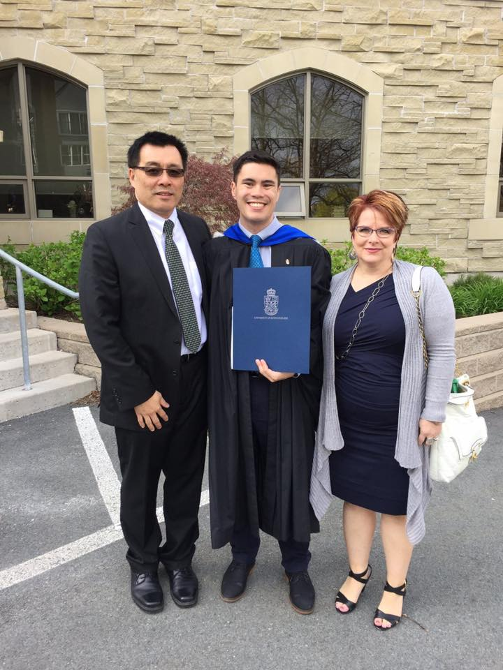 My parents and I after the University of King's College Encaenia or graduation.