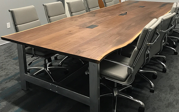 For The Office - We create handcrafted wood office furniture that will transform the feel of your office. A custom conference table adds character to your space and allows you build an environment that's comfortable for your employees and guests.Contact us to talk about how we can work together to create a piece that all of your clients will talk about.