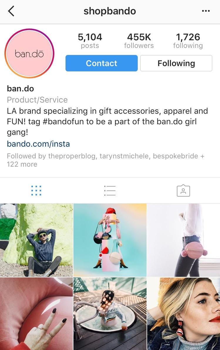 bando account