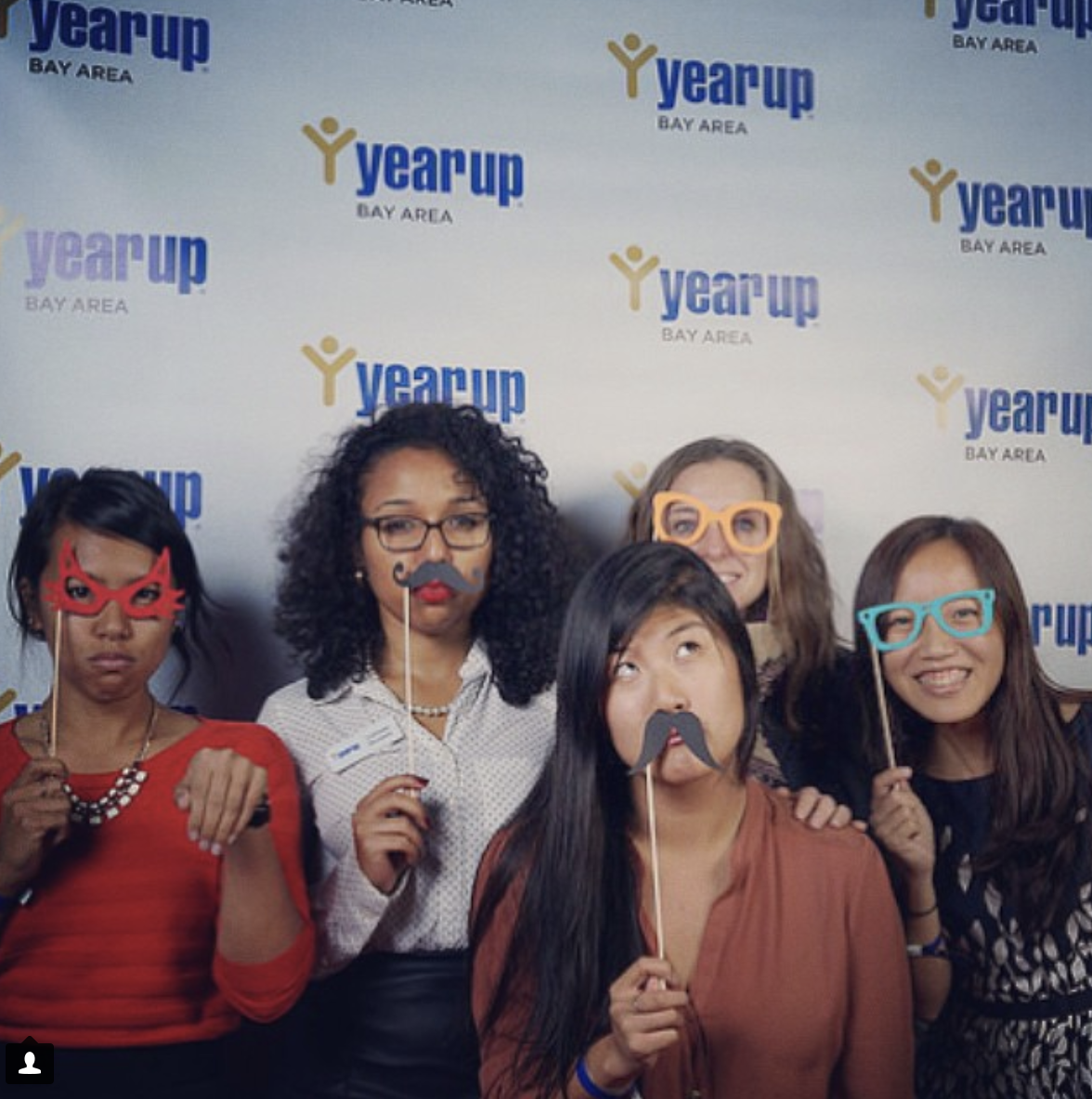 Being silly at the step-and-repeat with some of my 2014 ProInspire Fellowship cohort. I love these women!