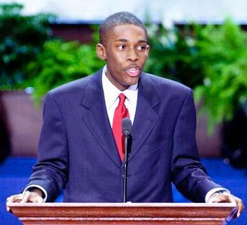 Speaking at the 2000 Republican National Convention