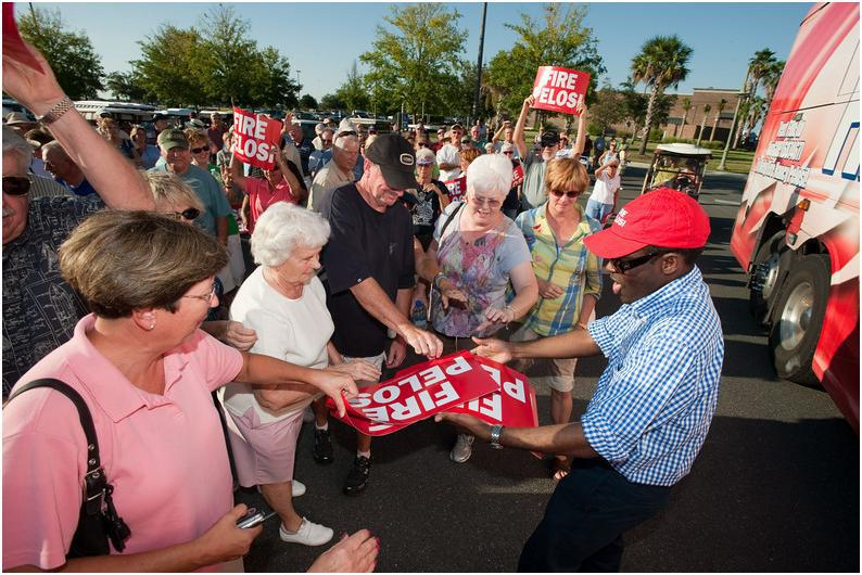 Fire Pelosi Bus Tour stop in The Villages, FL