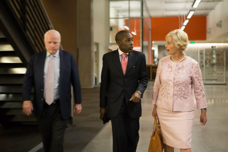 Talking w/ AZ Senator and Mrs. John McCain