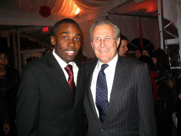 Vice President's Christmas Party w/ Sec. Don Rumsfeld