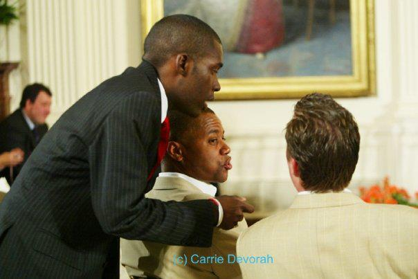 White House event w Cuba Gooding Jr.