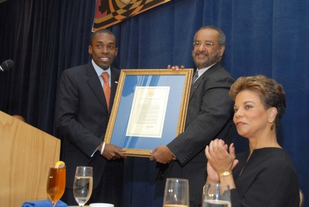 Presenting a Presidential Proclamation to ASALAH