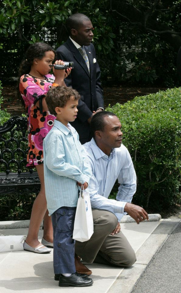 White House South Lawn with Leonard family