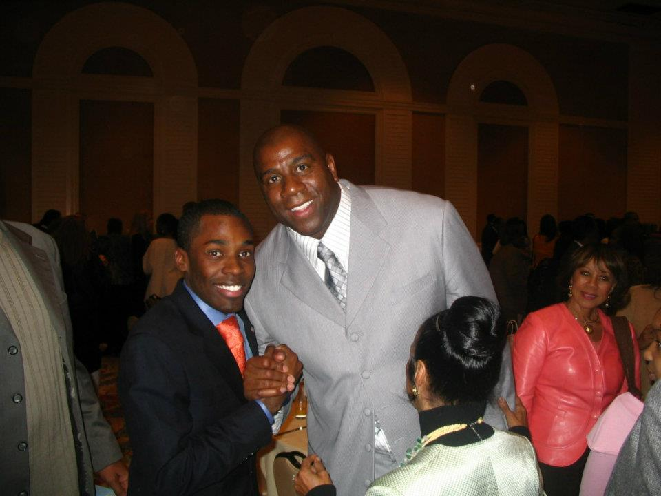 With Magic Johnson at Trumpet Awards Brunch