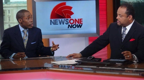 On set w/ Roland S. Martin on NewsOne Now