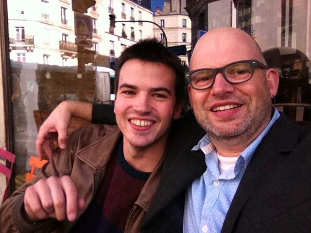 Back in Paris. Tom & Kari