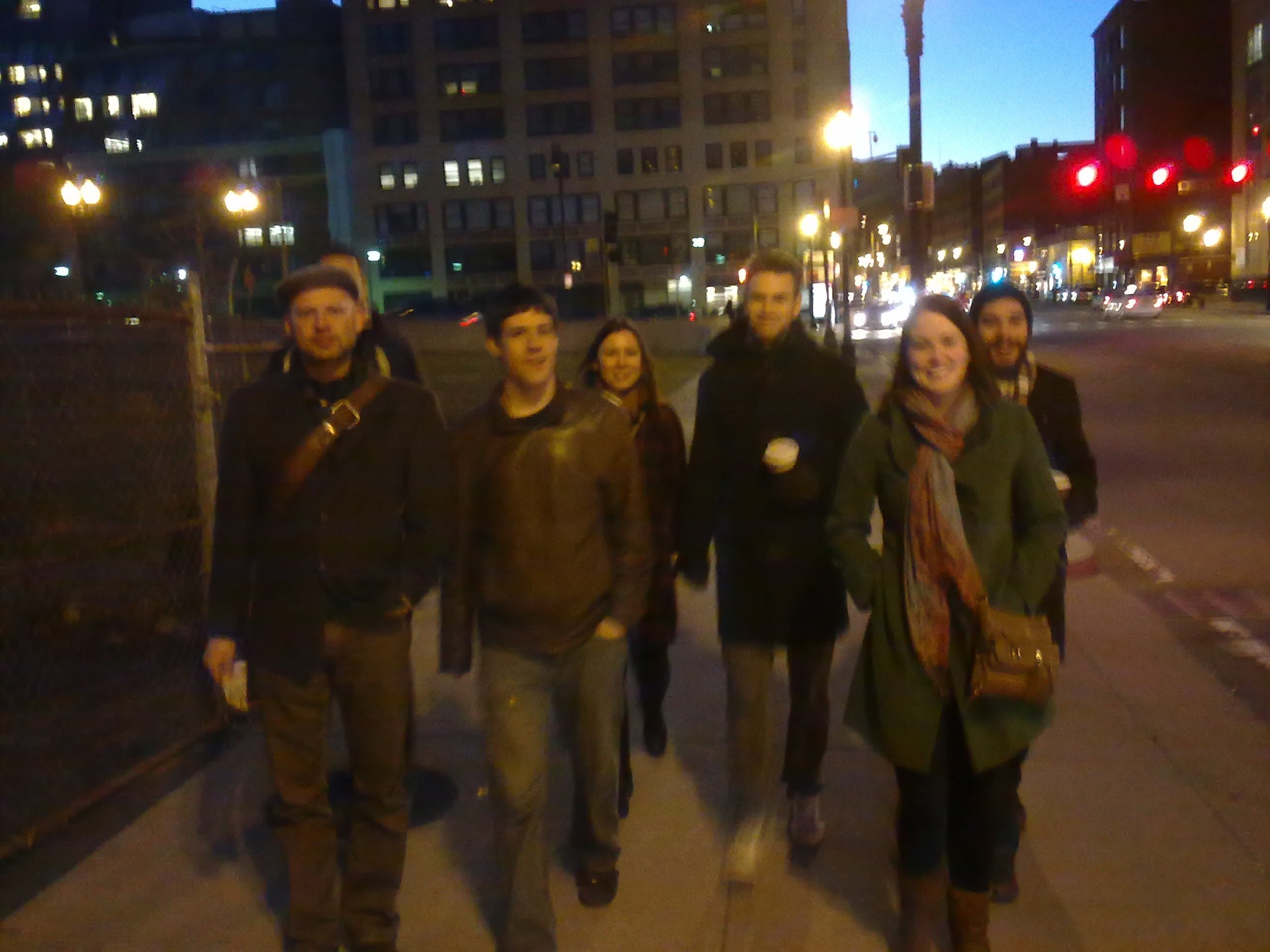 The Soft-matter Posse walking the streets of Boston