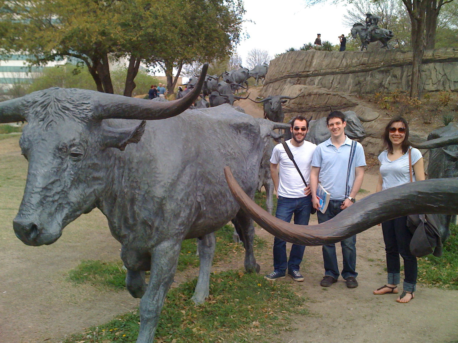 Josh, Rob and Jess, checking out the scenery in Dallas
