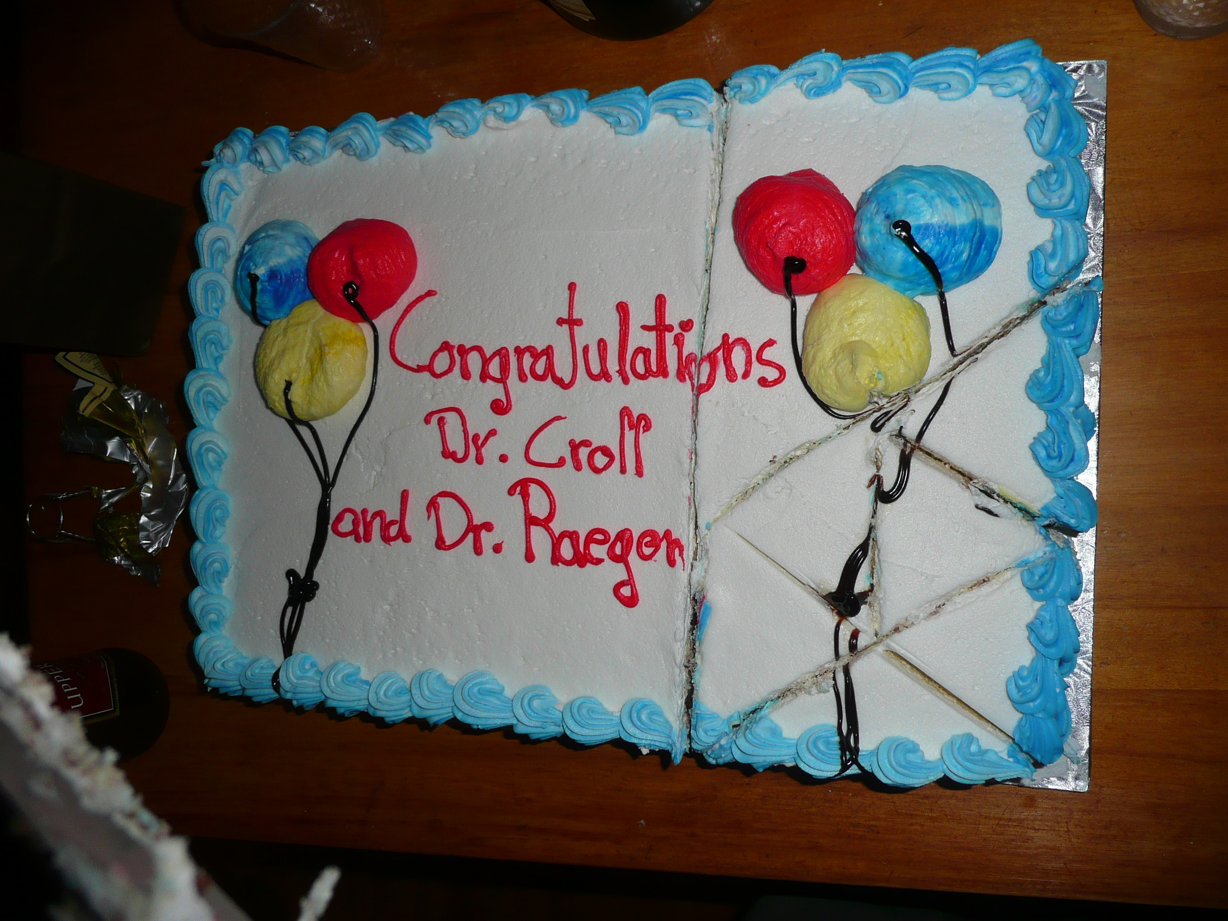 Congratulations Dr. Croll and Dr. Raegen