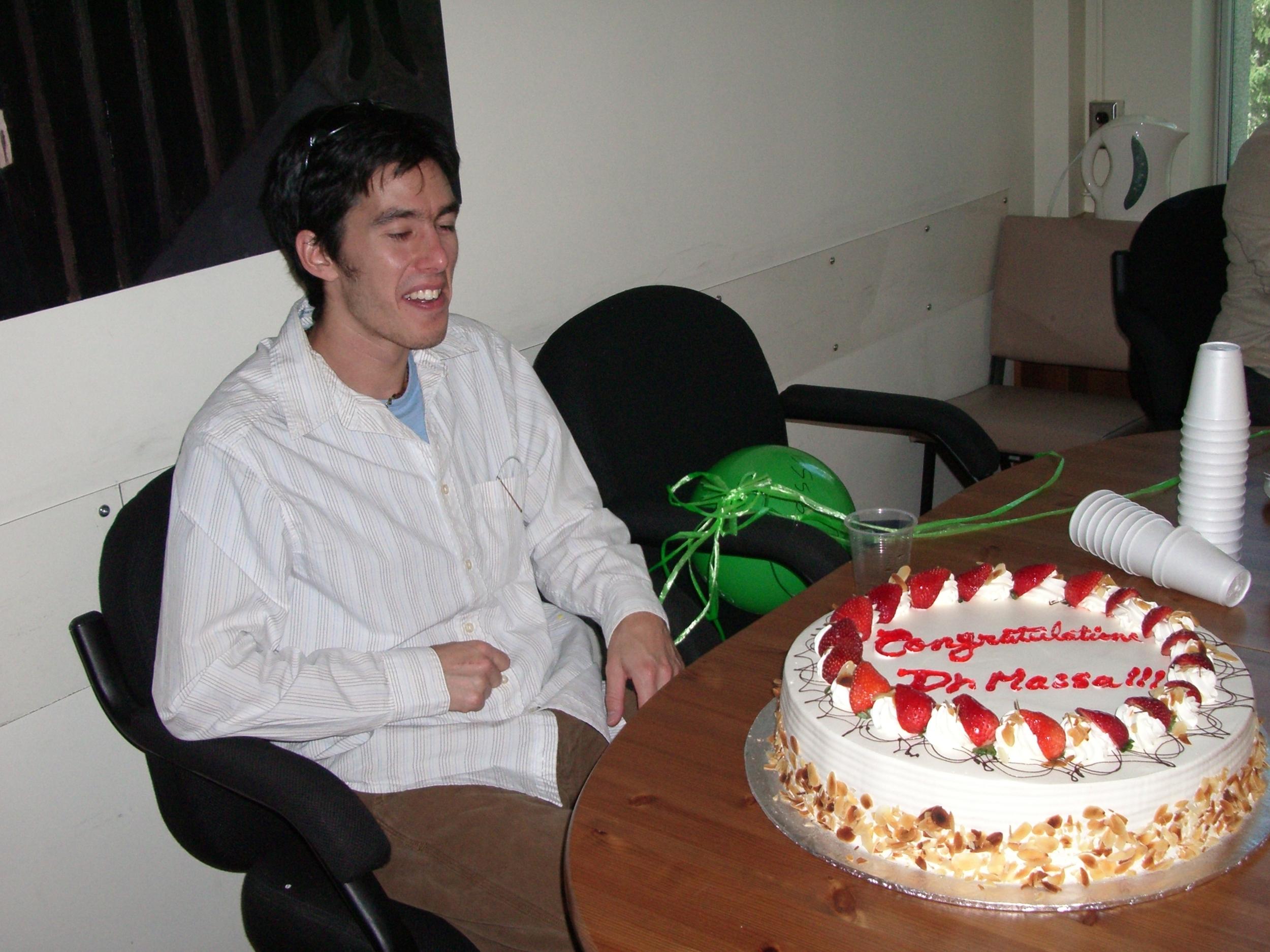 Dr. Massa! A bittersweet celebration