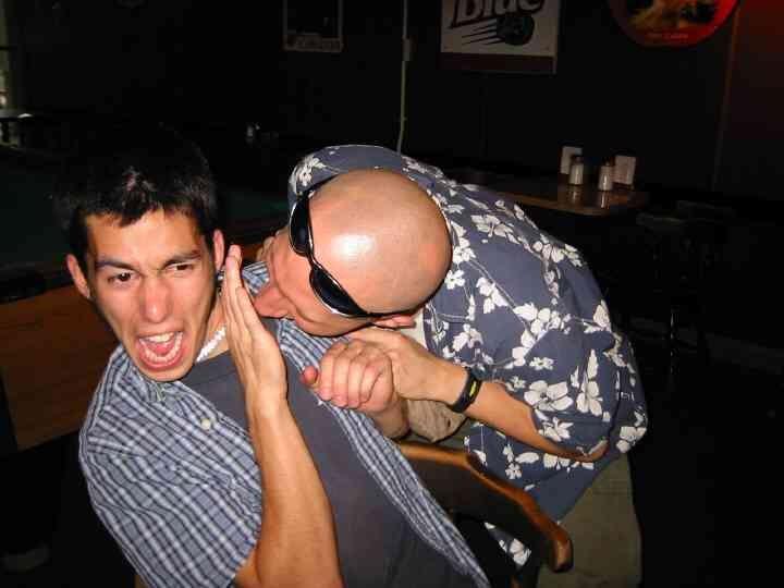 Massa getting atacked by Johnny O'