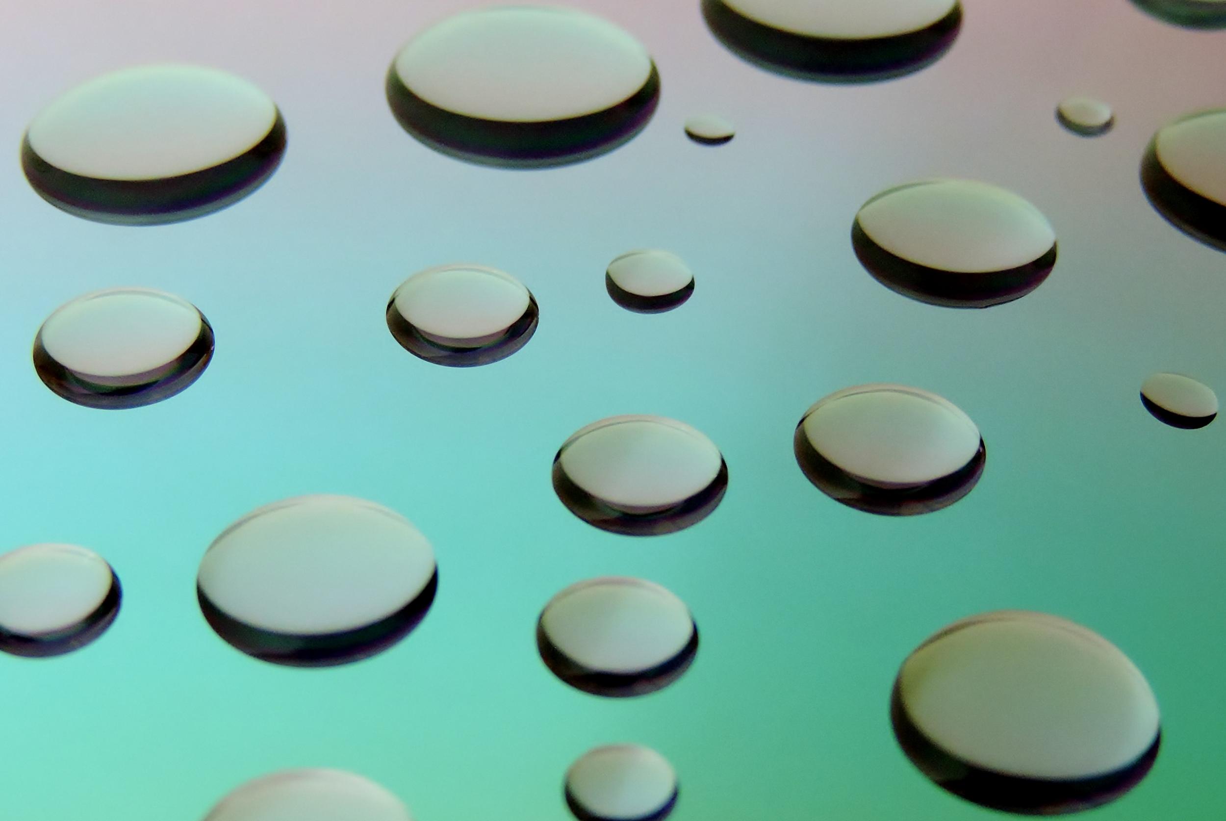 Floating droplets
