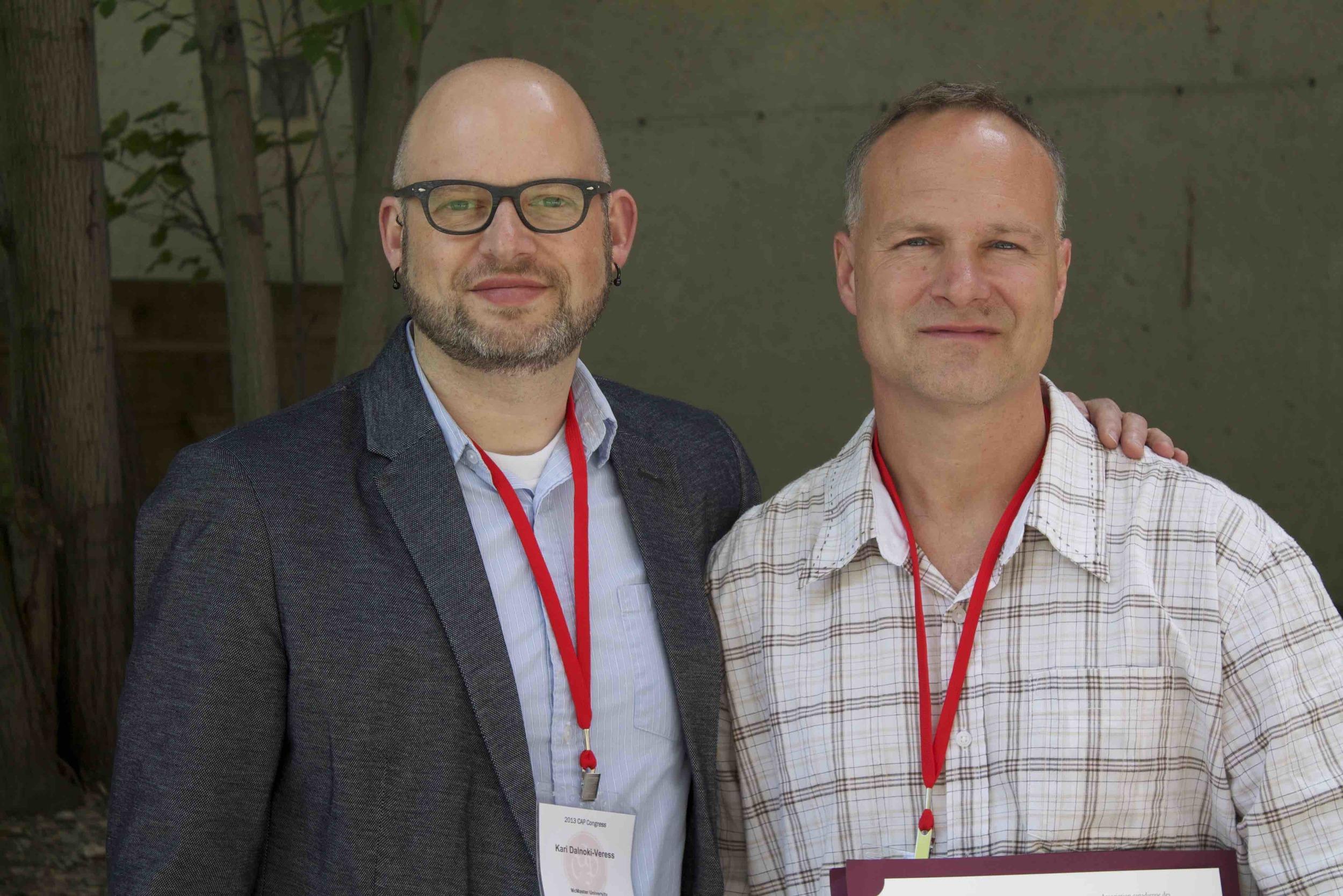 James Forrest & Kari co-winners of Brockhouse Medal