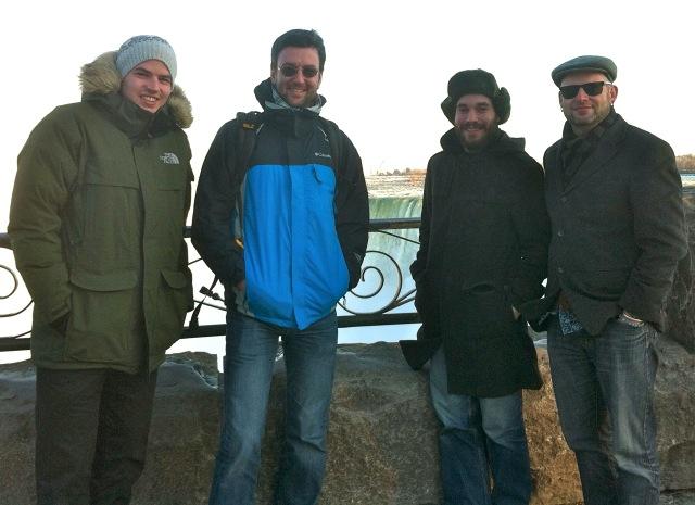 The Polymer Band (Tom, Olli, Josh, Kari)