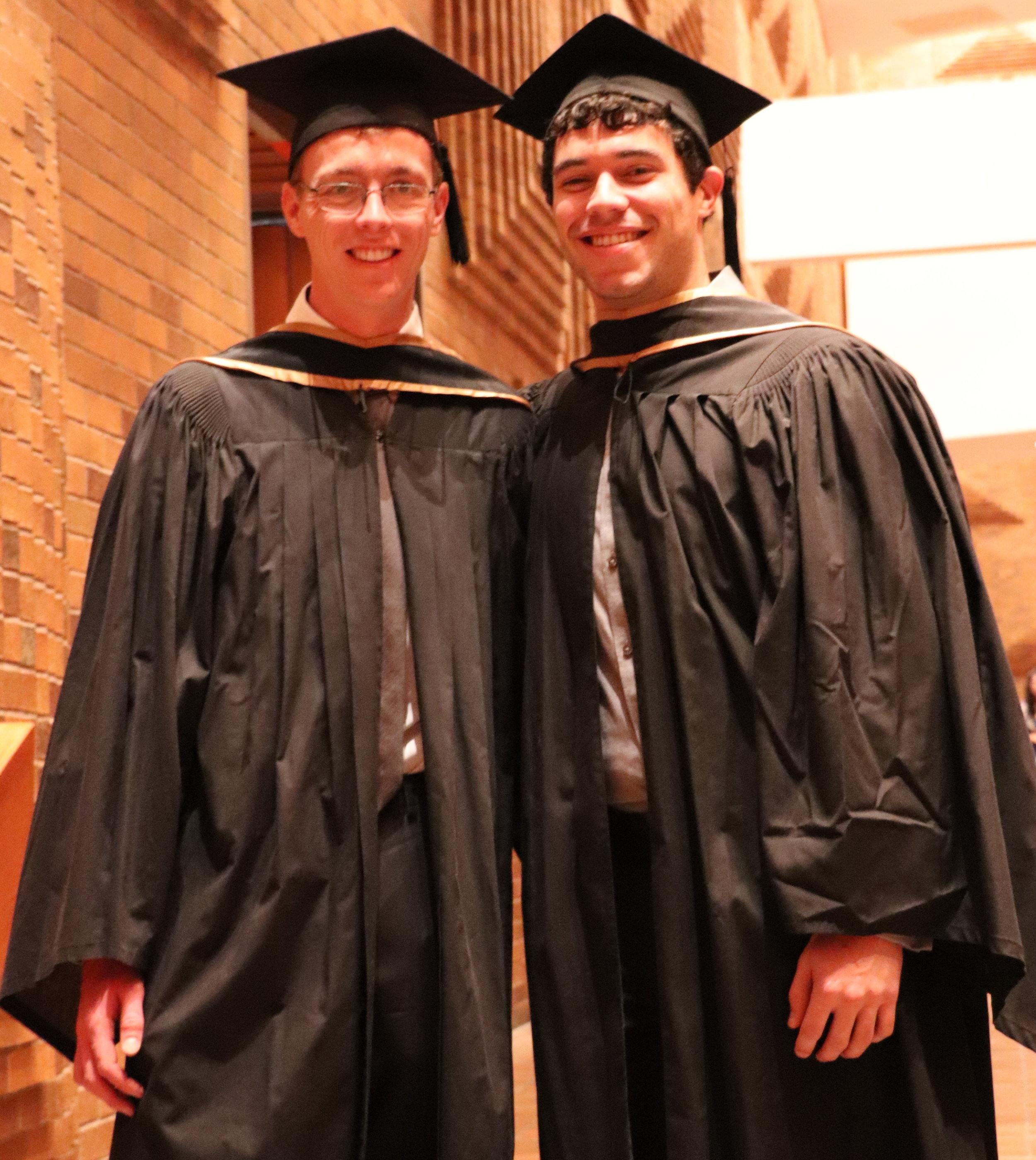 Jean-Christophe Ono-dit-Biot and Ben Davis-Purcell MSc Convocation