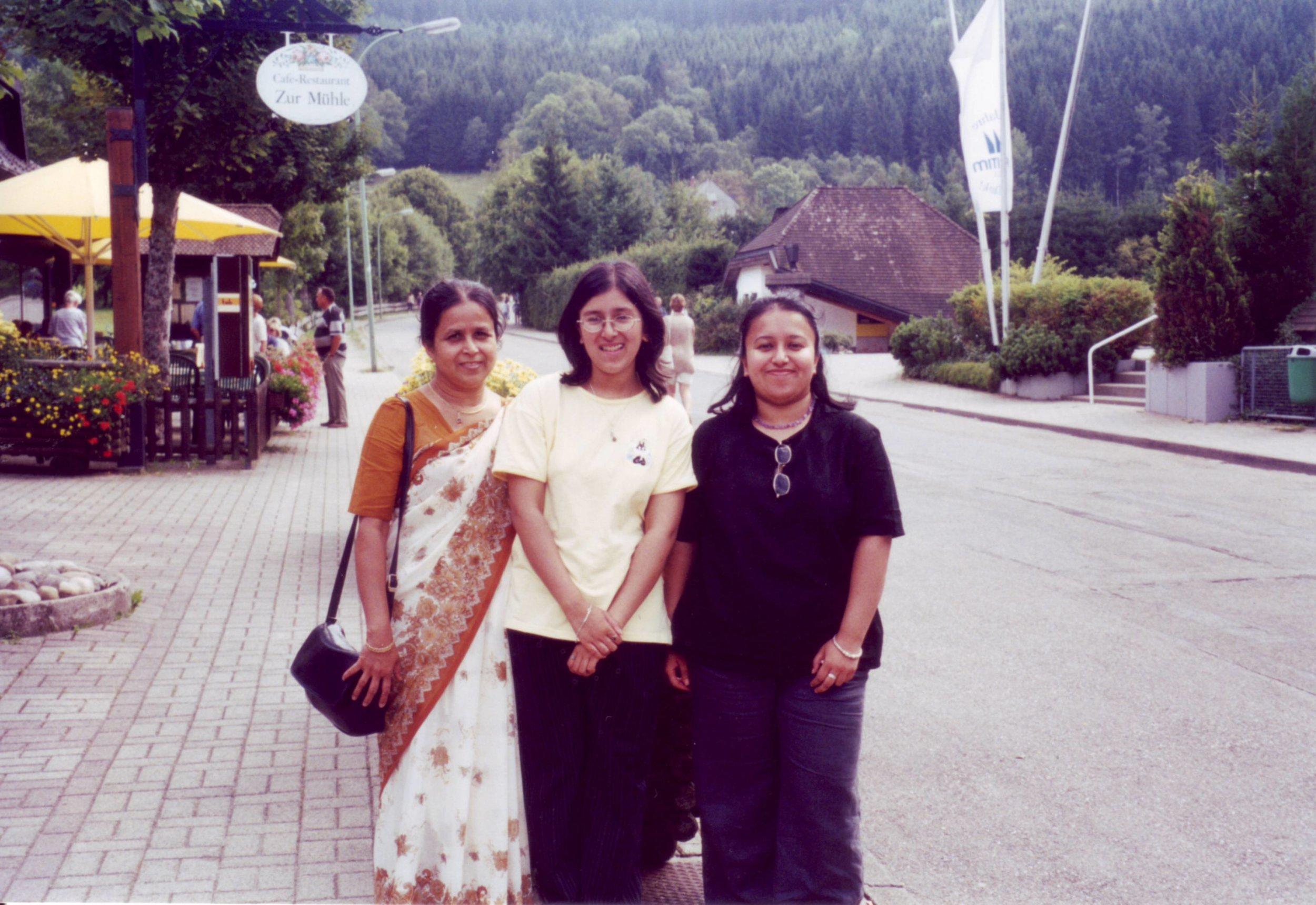 - Me my mum and sister through my teenage years