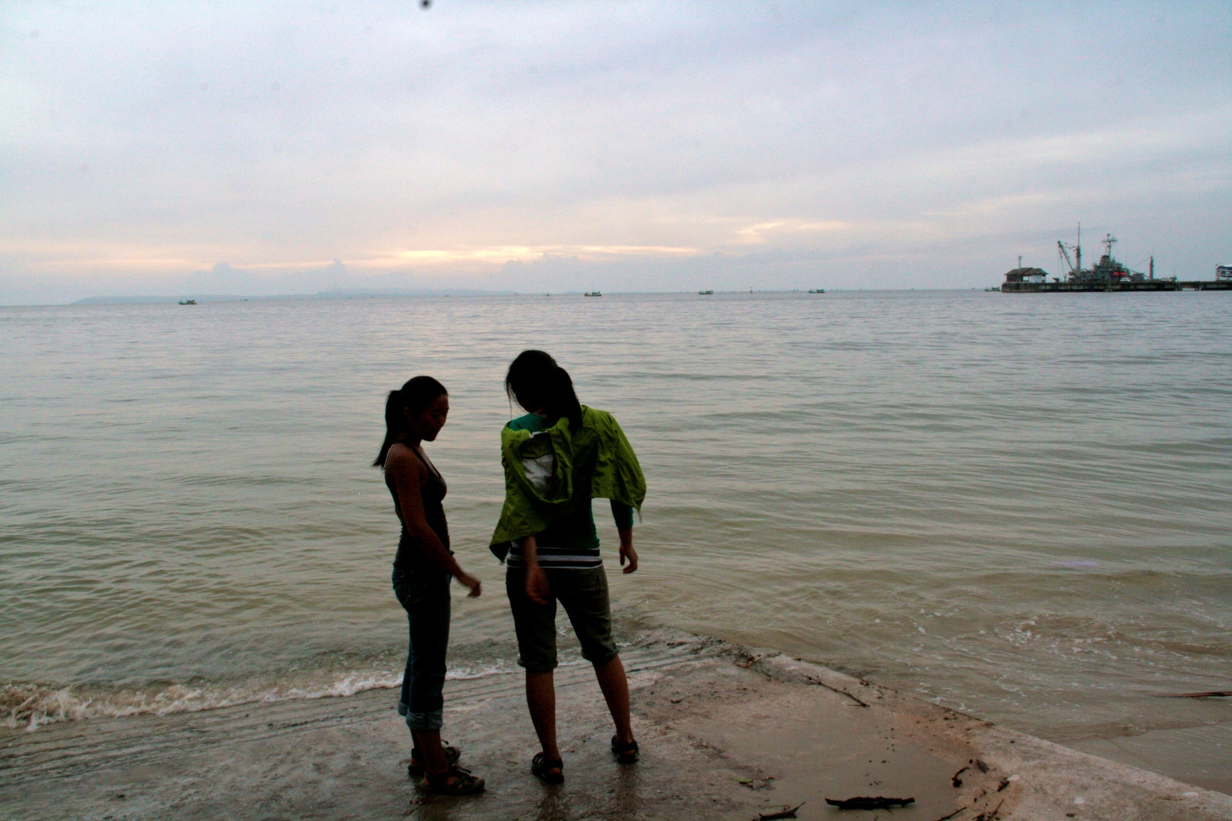 S- and I at the edge of the world, Cambodia. 2009