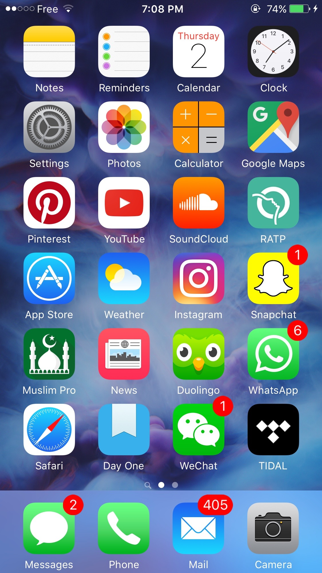 Getting ready for Ramadan: my 2016 Apple home screen.
