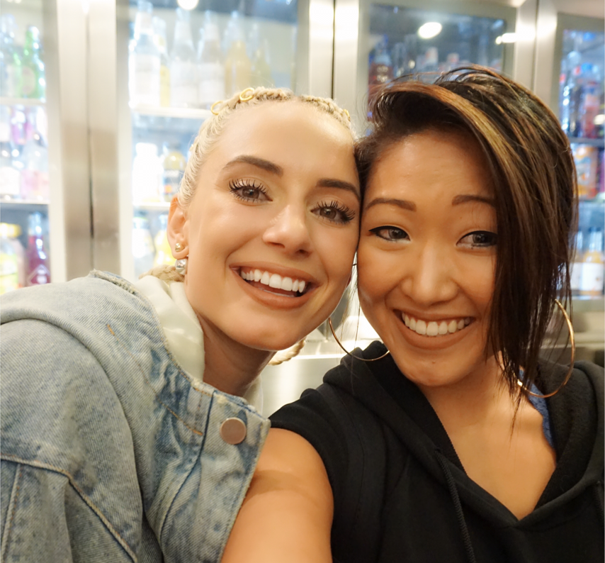 Posing with @YesJulz at the Colette water bar.