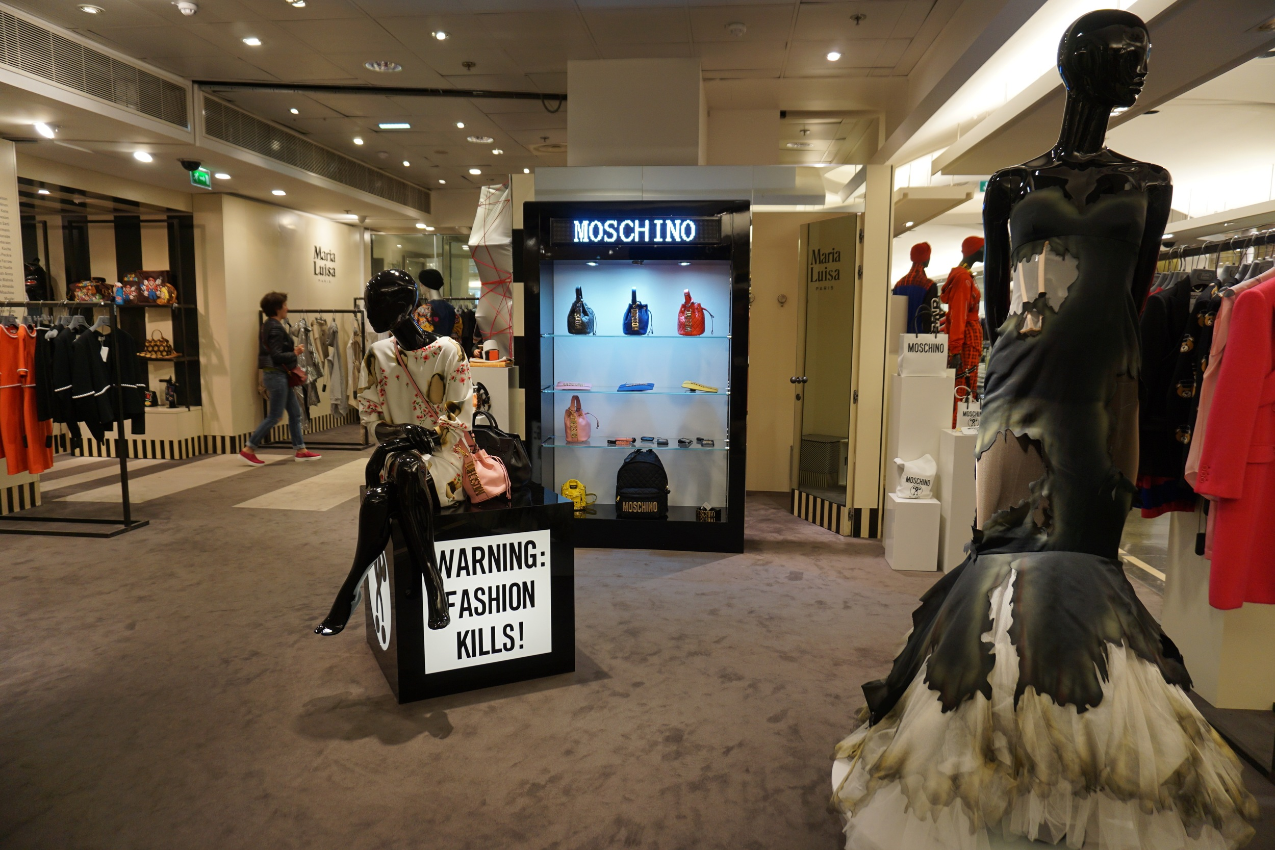 Moschino, Margiela, and Yves Solomon Army at Printemps Haussmann