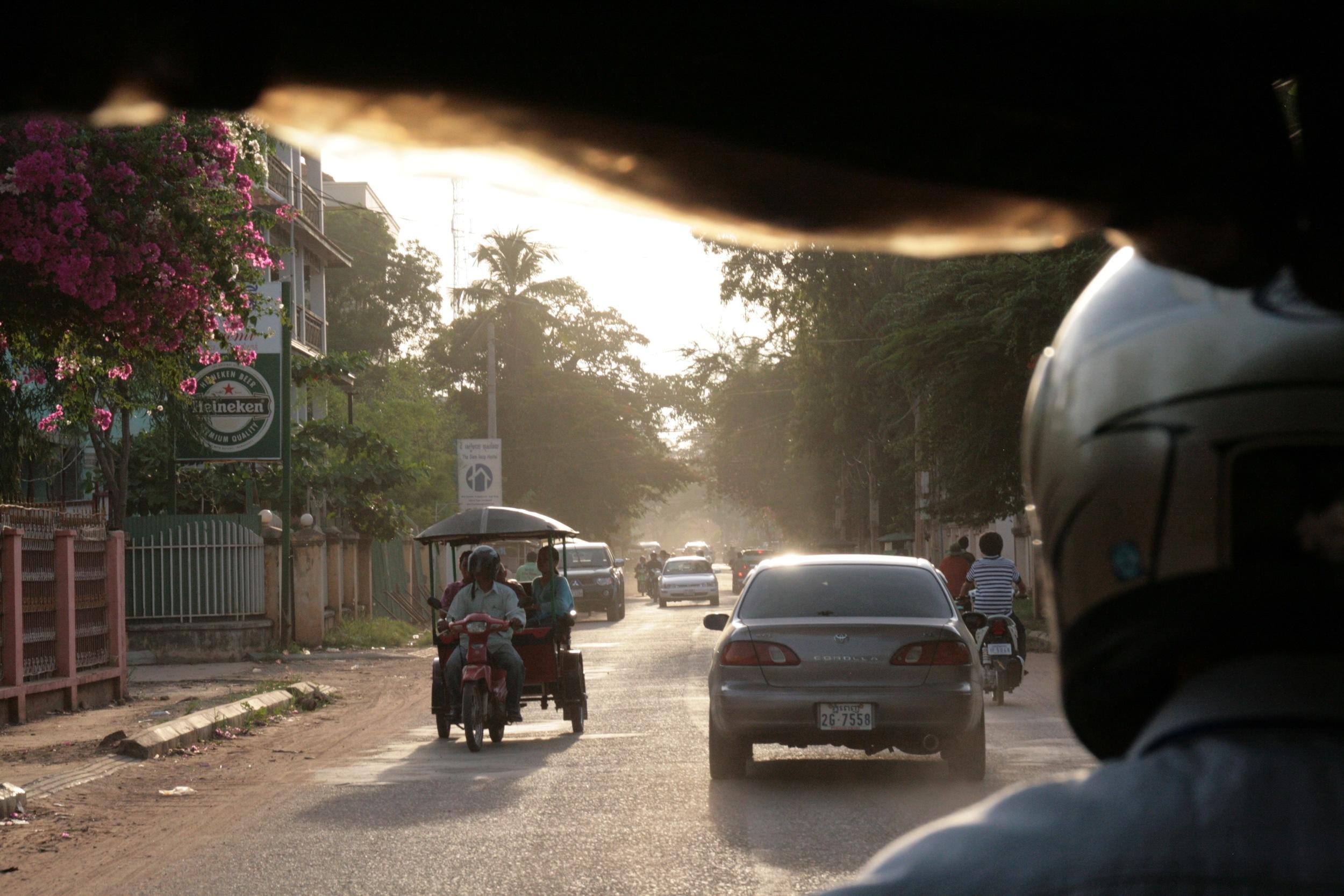 tuk-tuks in Cambodia