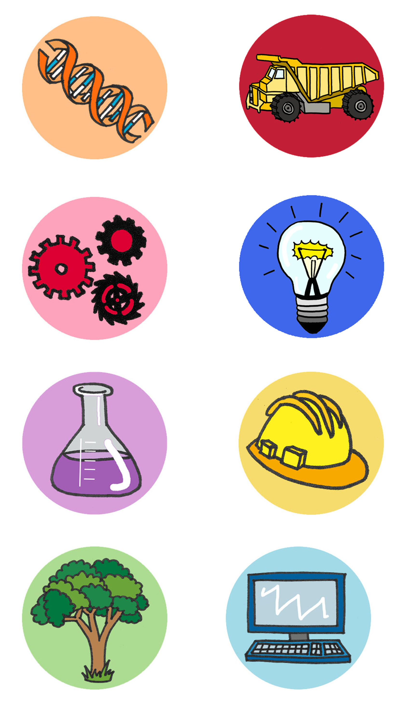 Icons for Girls in Engineering campaign