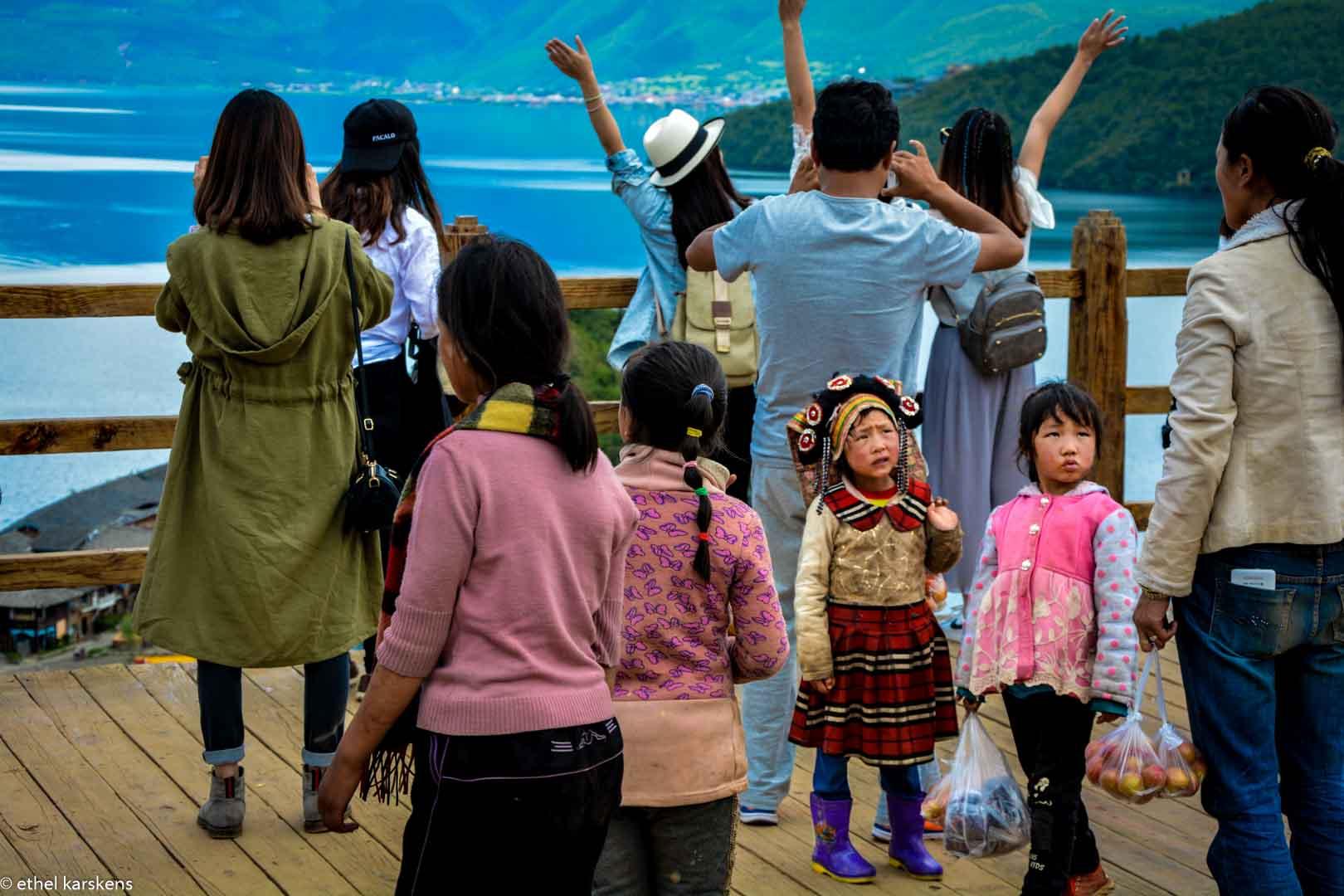 Girls at Lugu Lake