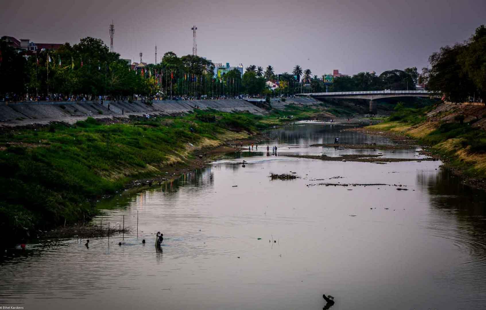Sangker River in Battambang (Cambodia)