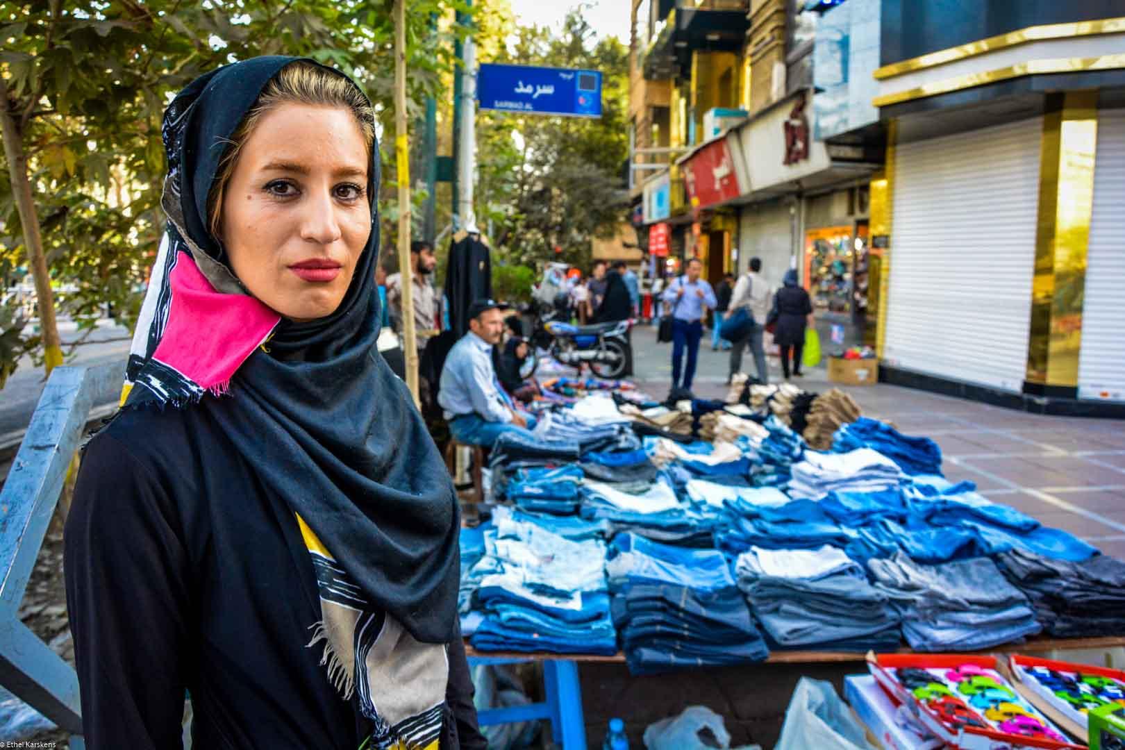 Vendor on Valiasr Street