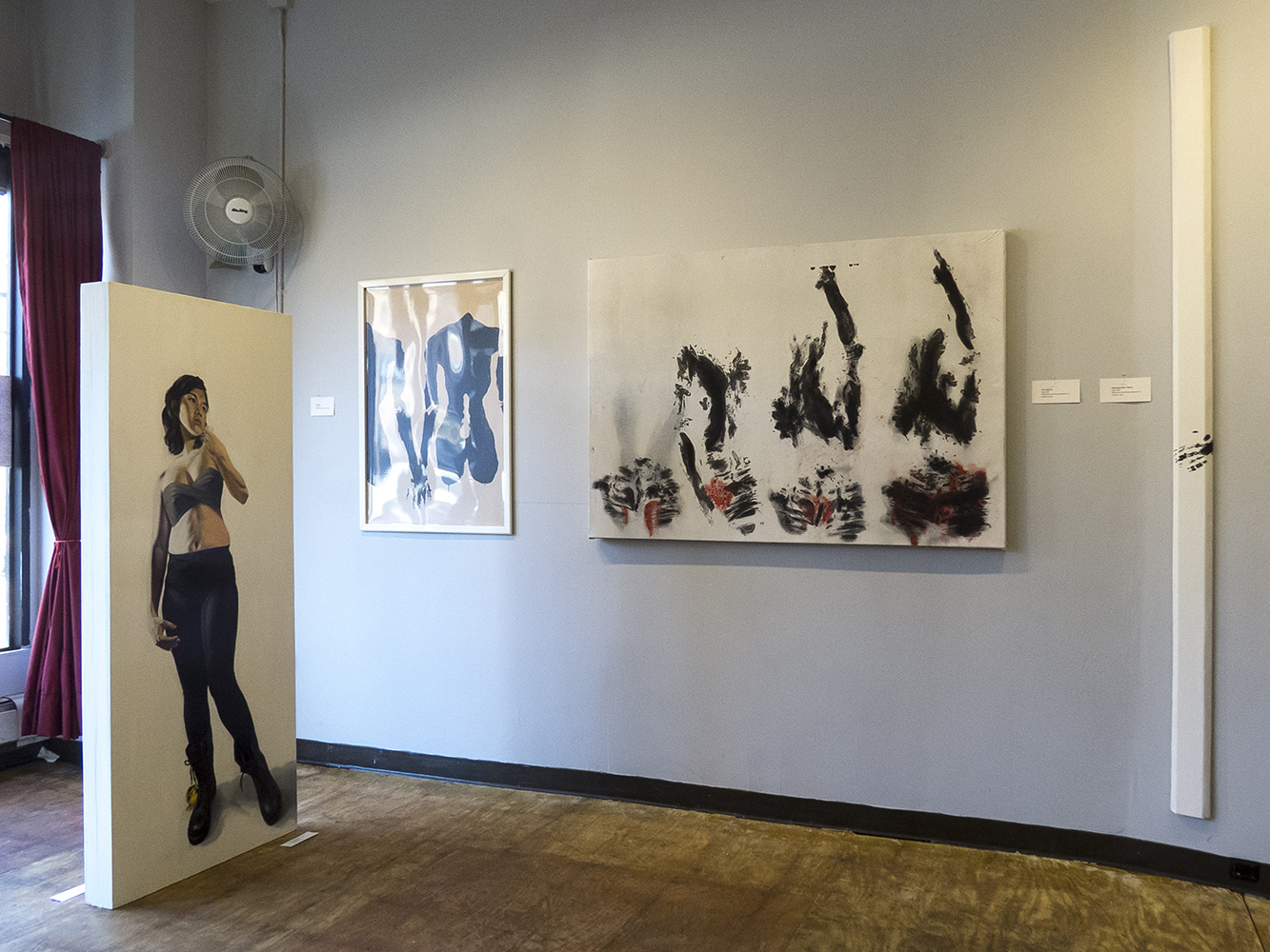 Installation view at Shoestring Press