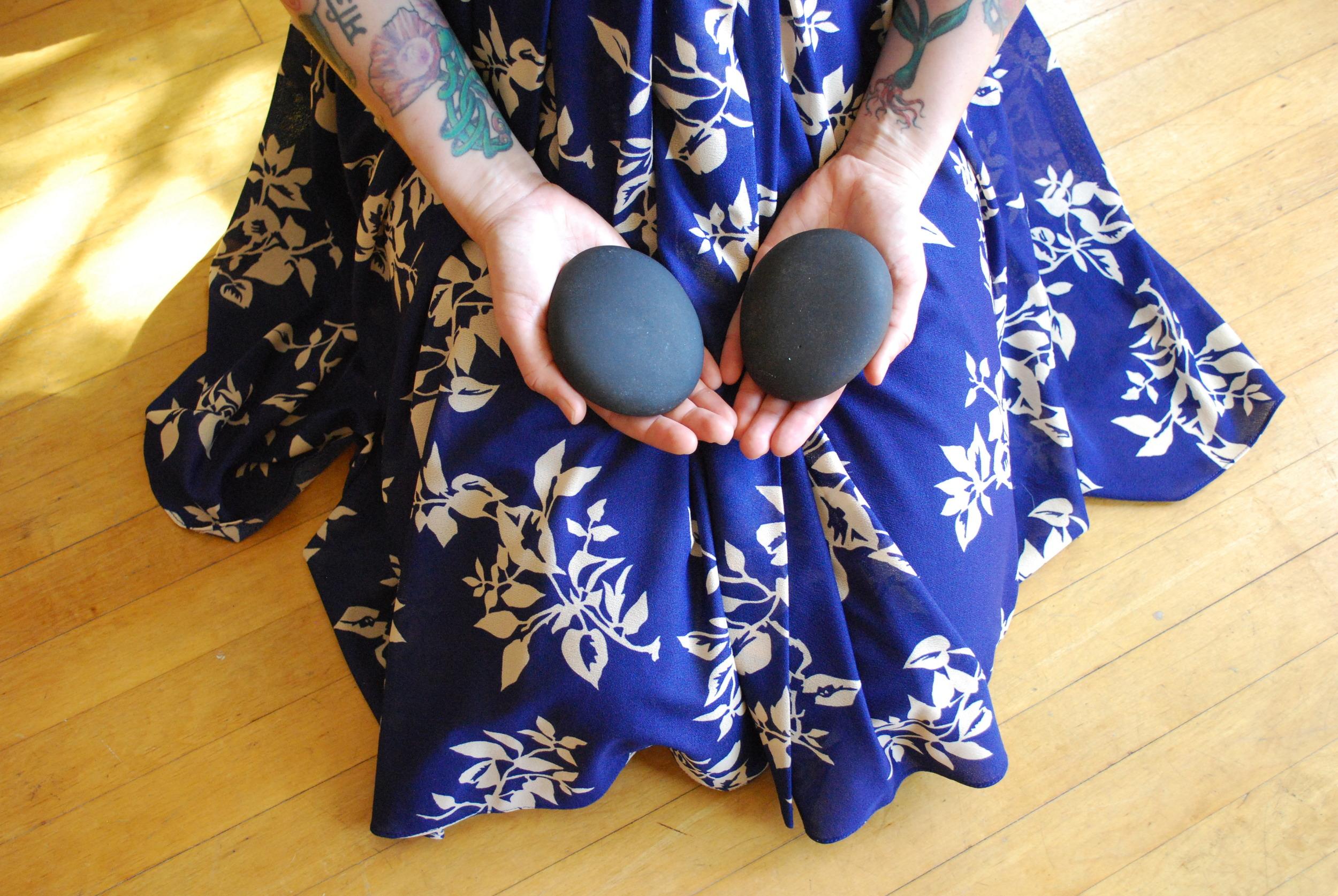Basalt Stones, Hot Stone Massage at Thai Massage at Samsara Wellness Center: Yoga, Massage & Tattoo in Bakersfield, California