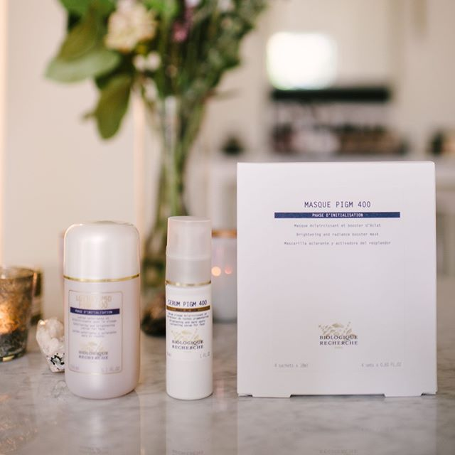 The PIGM 400 series here contains the lotion, serum and mask items, working perfectly together to boost radiance and even out skintone. Check out more BR products in store or on our website! #biologiquerecherche #radiantskin #skincareproducts #skincareobsessed #skinbyglow